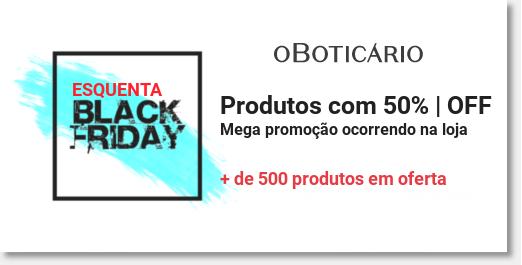 Banner promocoes produtos com ate 50Off na boticario