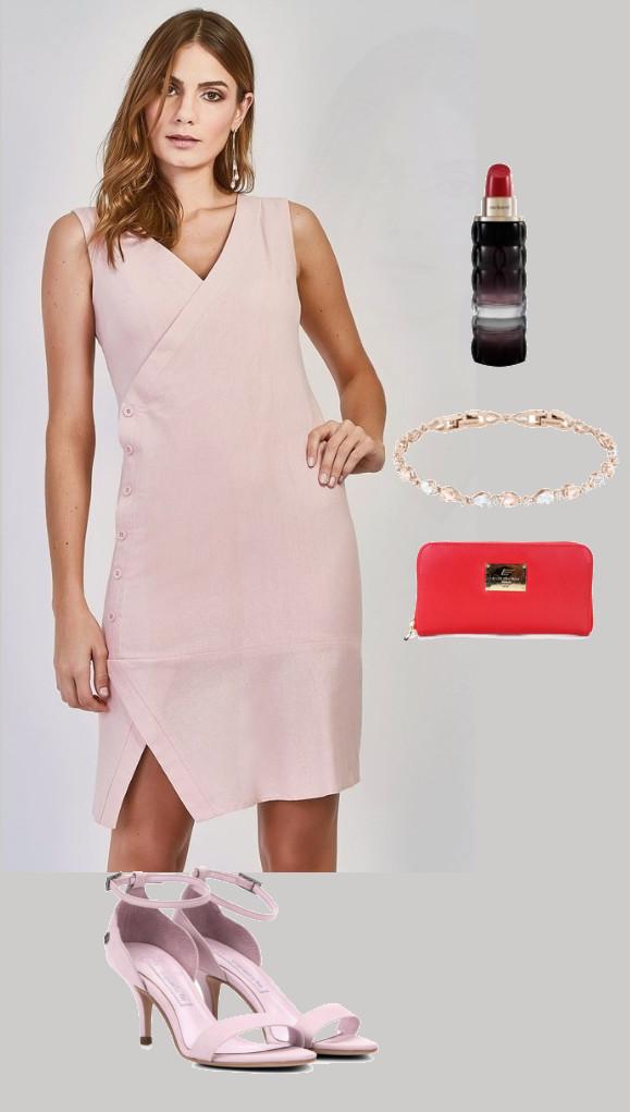 Look de casamento: Vestido preto com carteira Ellus e perfume Cacharel