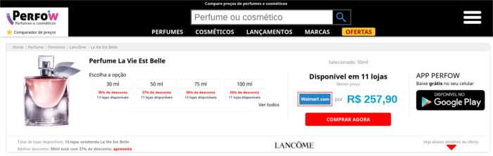 Perfow - Compare preço de perfumes